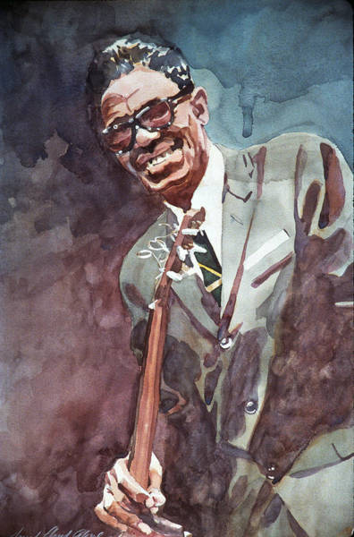 Painting - Sam Lightnin Hopkins by David Lloyd Glover