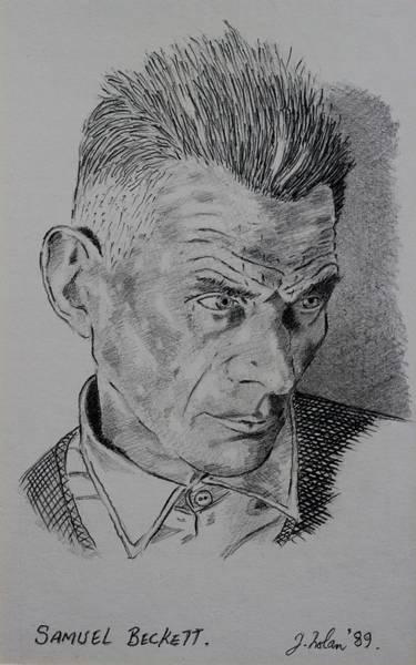 Decorative Drawing - Samuel Beckett by John  Nolan