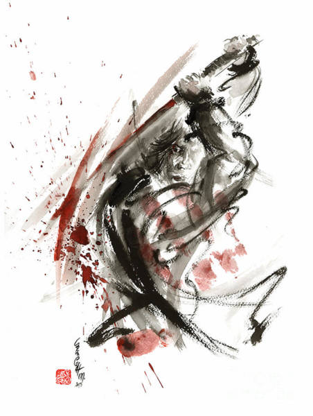 Wall Art - Painting - Samurai Bushido Code by Mariusz Szmerdt