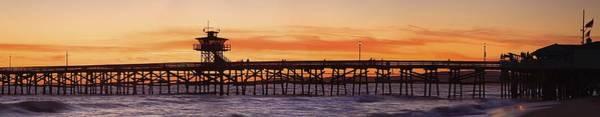 Wall Art - Photograph - San Clemente Municipal Pier In Sunset by Richard Cummins