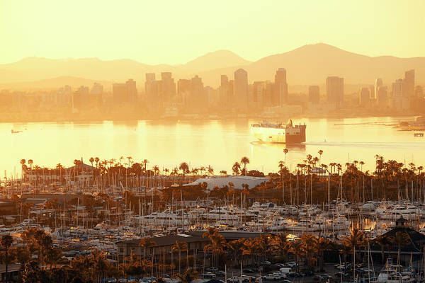 Photograph - San Diego Downtown by Songquan Deng