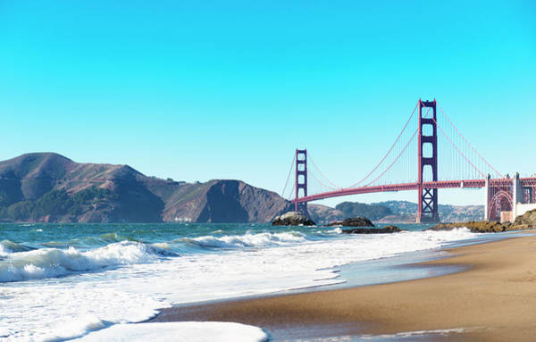 Wall Art - Photograph - San Francisco Golden Gate From The Beach by Franckreporter