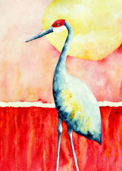Sandhill Crane II Art Print by Sarah Rosedahl