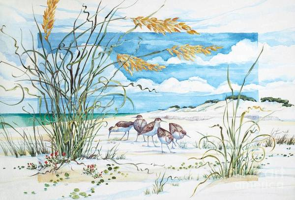 Sea Oats Painting - Sandpiper Dunes by Paul Brent