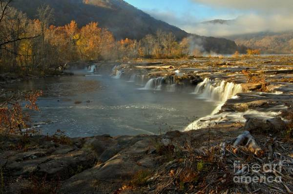 Photograph - Sandstone Falls At New River Gorge by Adam Jewell