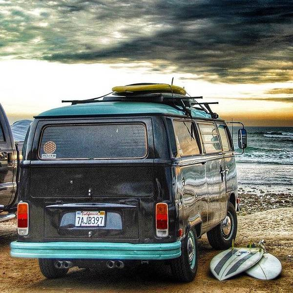 Sano Surf Bus And Boards Art Print