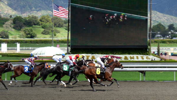 Photograph - Santa Anita Race Track by Jeff Lowe
