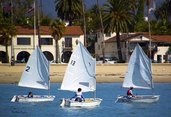 Photograph - Santa Barbara Harbor Yacht Race by Barbara Snyder