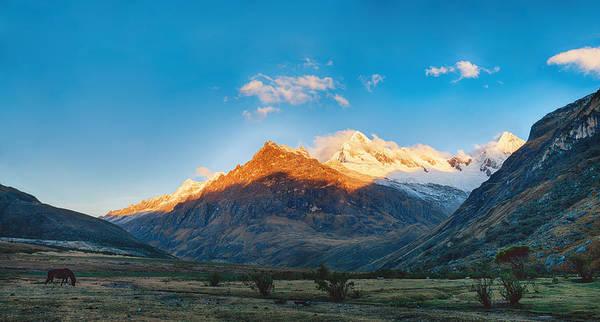 Photograph - Santa Cruz Trek Mountain In Peru by U Schade