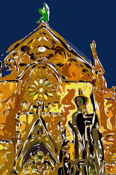 Digital Art - Santa Fe Cathedral by David Hansen