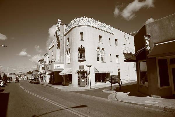 Photograph - Santa Fe Street Scene by Frank Romeo