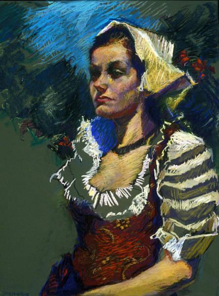 Pastel - Sardinian Woman by Ellen Dreibelbis