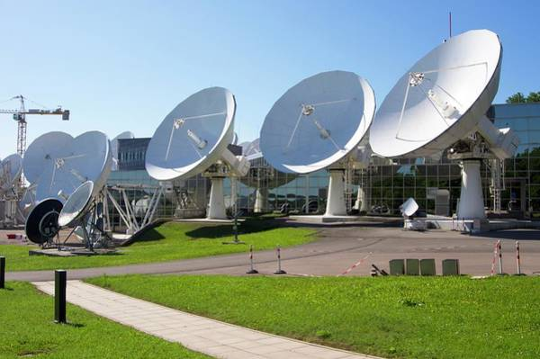 Satellite Dish Photograph - Satellite Earth Station by Mark Williamson