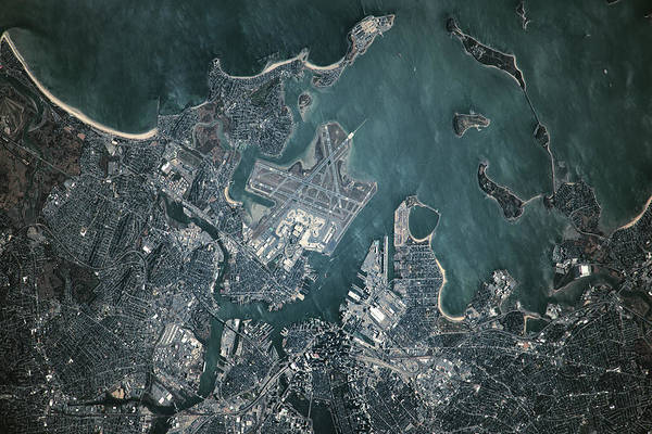 Satellite Image Wall Art - Photograph - Satellite View Of Boston by Panoramic Images