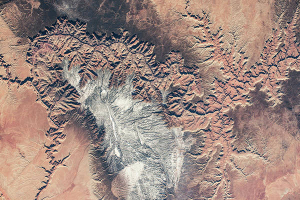 Iss Photograph - Satellite View Of Grand Canyon by Panoramic Images