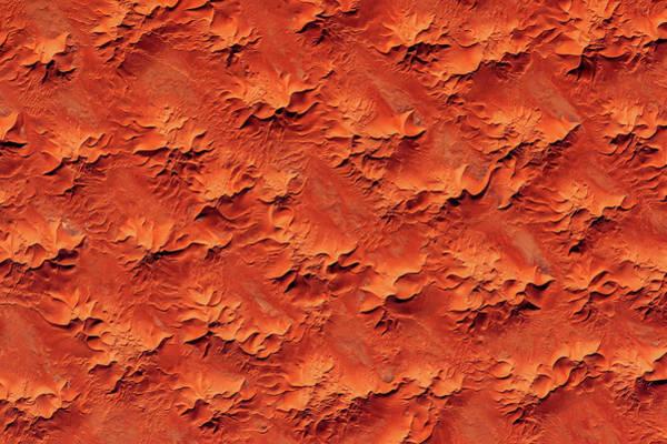 Iss Photograph - Satellite View Of Murzuk Desert, Libya by Panoramic Images