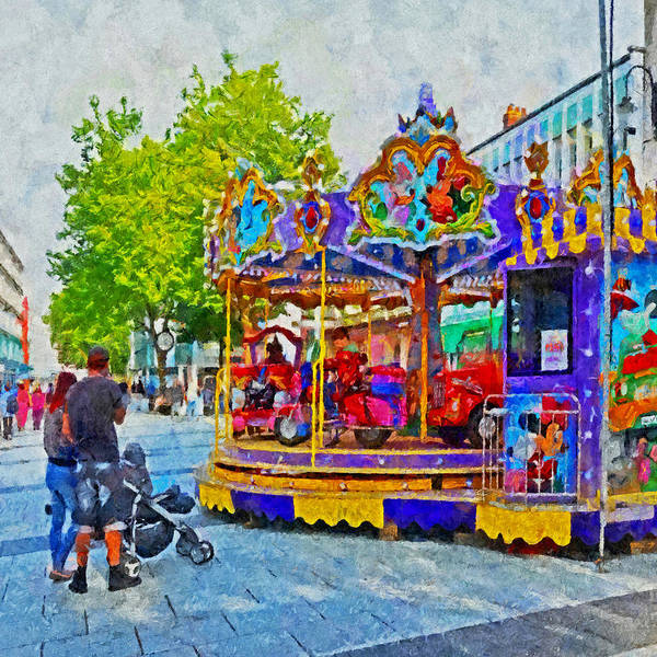 Digital Art - Saturday Fun On Queen Street In Cardiff Wales by Digital Photographic Arts
