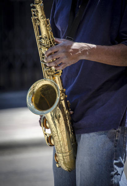 Photograph - Saxophone Player On Street by Carolyn Marshall