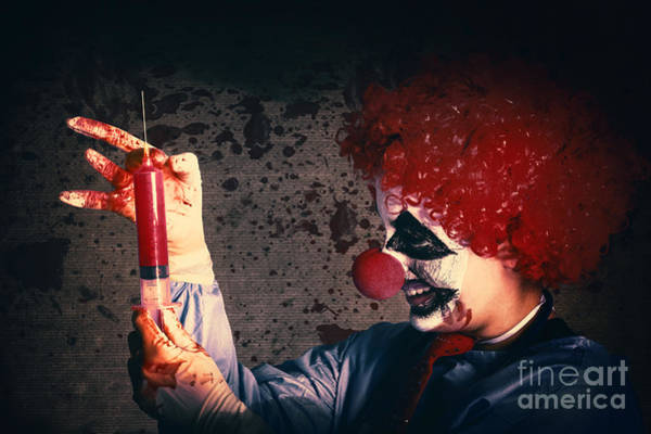 Photograph - Scary Clown Giving Bad Medicine Vaccination by Jorgo Photography - Wall Art Gallery