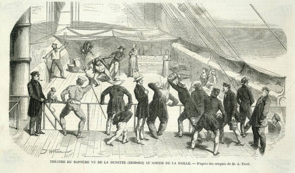 Wall Art - Drawing - Scene On A French Ship by Mary Evans Picture Library