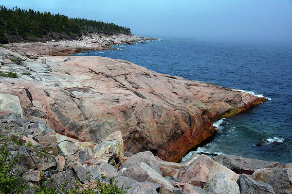 Cabot Trail Photograph - Scenic View Of Exposed Bedrock by Darlyne A. Murawski