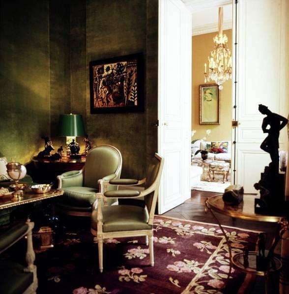 Wall Art - Photograph - Schlumberger's Green Salon by Horst P. Horst