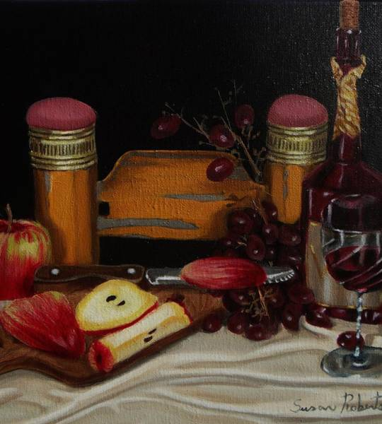 Glass Cutting Painting - School Days by Susan Roberts