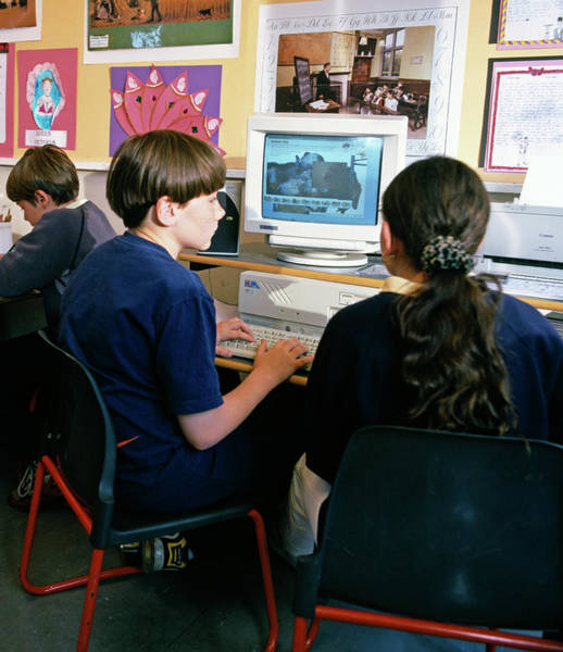 Classroom Photograph - Schoolchildren Working by Martin Riedl/science Photo Library