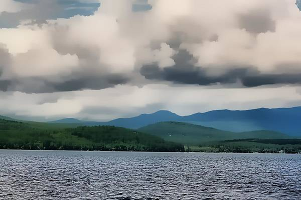 Adirondack Mountains Painting - Schroon Lake by John Delong