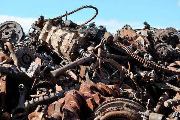 Scrap Wall Art - Photograph - Scrap Metal by Robert Brook/science Photo Library