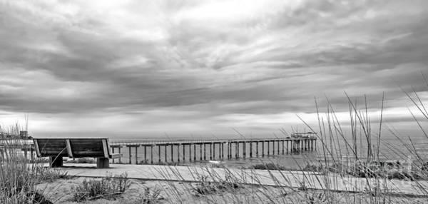 Scripps Pier Photograph - Scripps Pier Black N White by Baywest Imaging