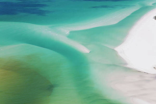 Wall Art - Photograph - Sea And Fresh Water Covering Beach by Peter Adams