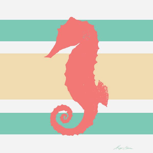 Wall Art - Digital Art - Sea Creature On Stripes II by Hugo Edwins
