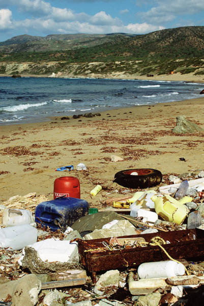 Litter Photograph - Sea Pollution by Robert Brook/science Photo Library