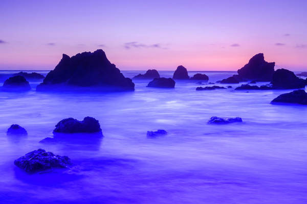 Matador Photograph - Sea Stacks At Dusk, El Matador State by Russ Bishop