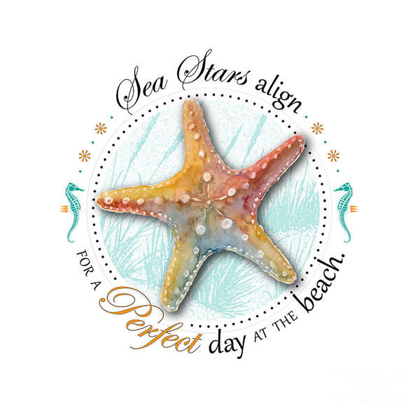Digital Art - Sea Stars Align For A Perfect Day At The Beach by Amy Kirkpatrick