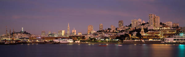 Coit Tower Photograph - Sea With A City In The Background, Coit by Panoramic Images
