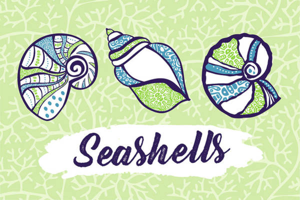 Wall Art - Painting - Seashells by Nd Art & Design