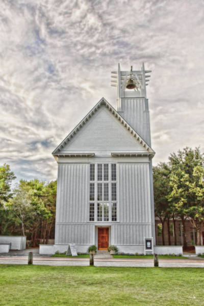 Northwest Florida Photograph - Seaside Chapel - Surreal Pov 1 by Scott Pellegrin
