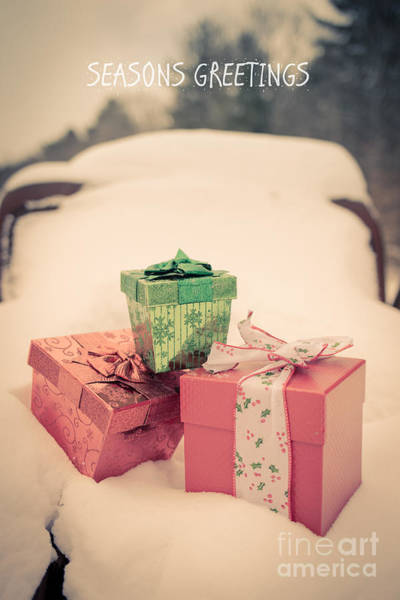 Gift Wrap Photograph - Seasons Greetings by Edward Fielding