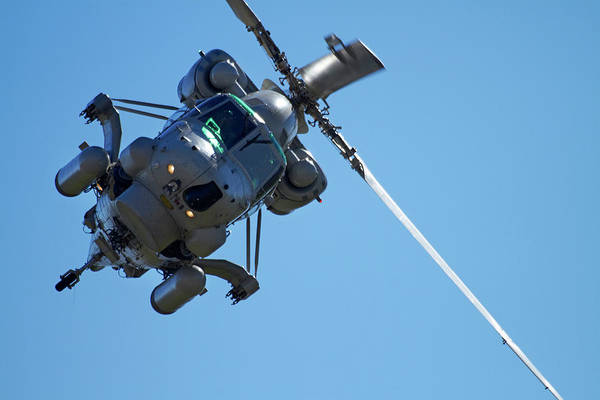 Rotor Photograph - Seasprite Helicopter, (kaman Sh 2g by David Wall