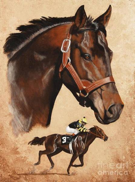 Wall Art - Painting - Seattle Slew by Pat DeLong