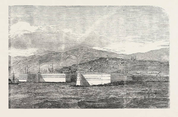 Ukraine Drawing - Sebastopol, And Its Fortifications by English School
