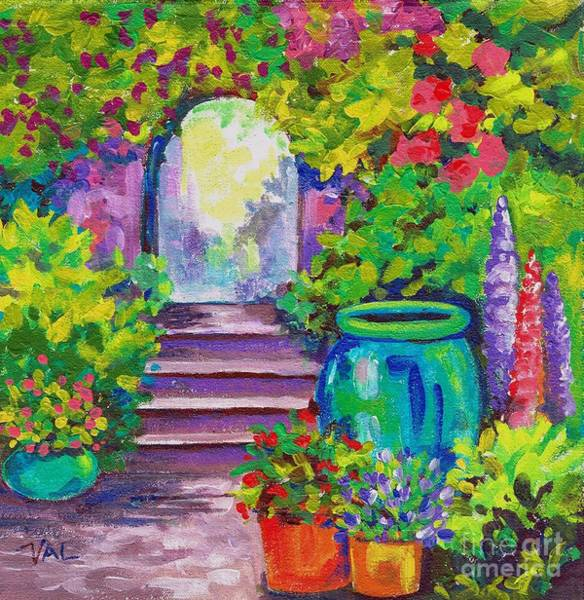 Painting - Secret Garden by Val Stokes