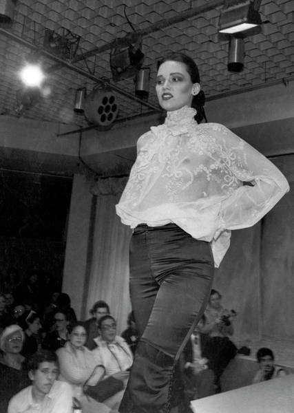 Runway Model Photograph - See Through Blouse By Chloe by Underwood Archives