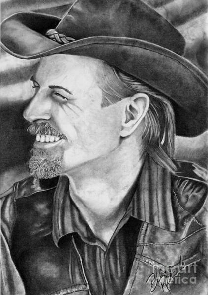 Drawing - Self Portrait by Bill Richards
