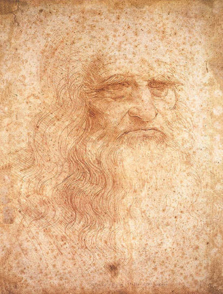 Painting - Self Portrait by Leonardo da Vinci