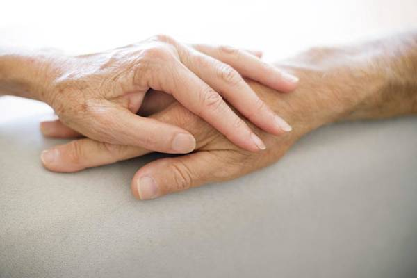 Wall Art - Photograph - Senior Couple Holding Hands by Ian Hooton/science Photo Library