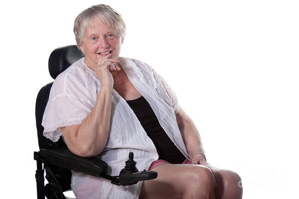 Photograph - Senior Woman In Wheel Chair by Gunter Nezhoda