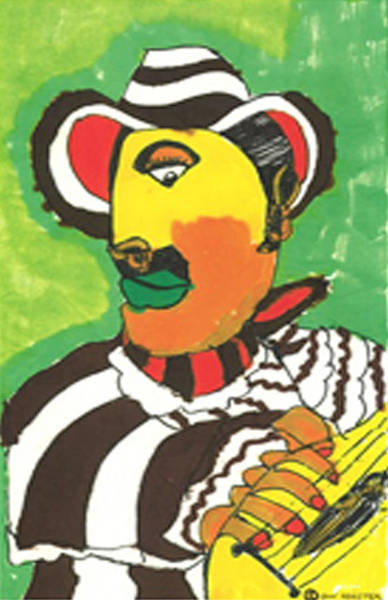 Mariachi Drawing - Senor Guitar by Don Koester